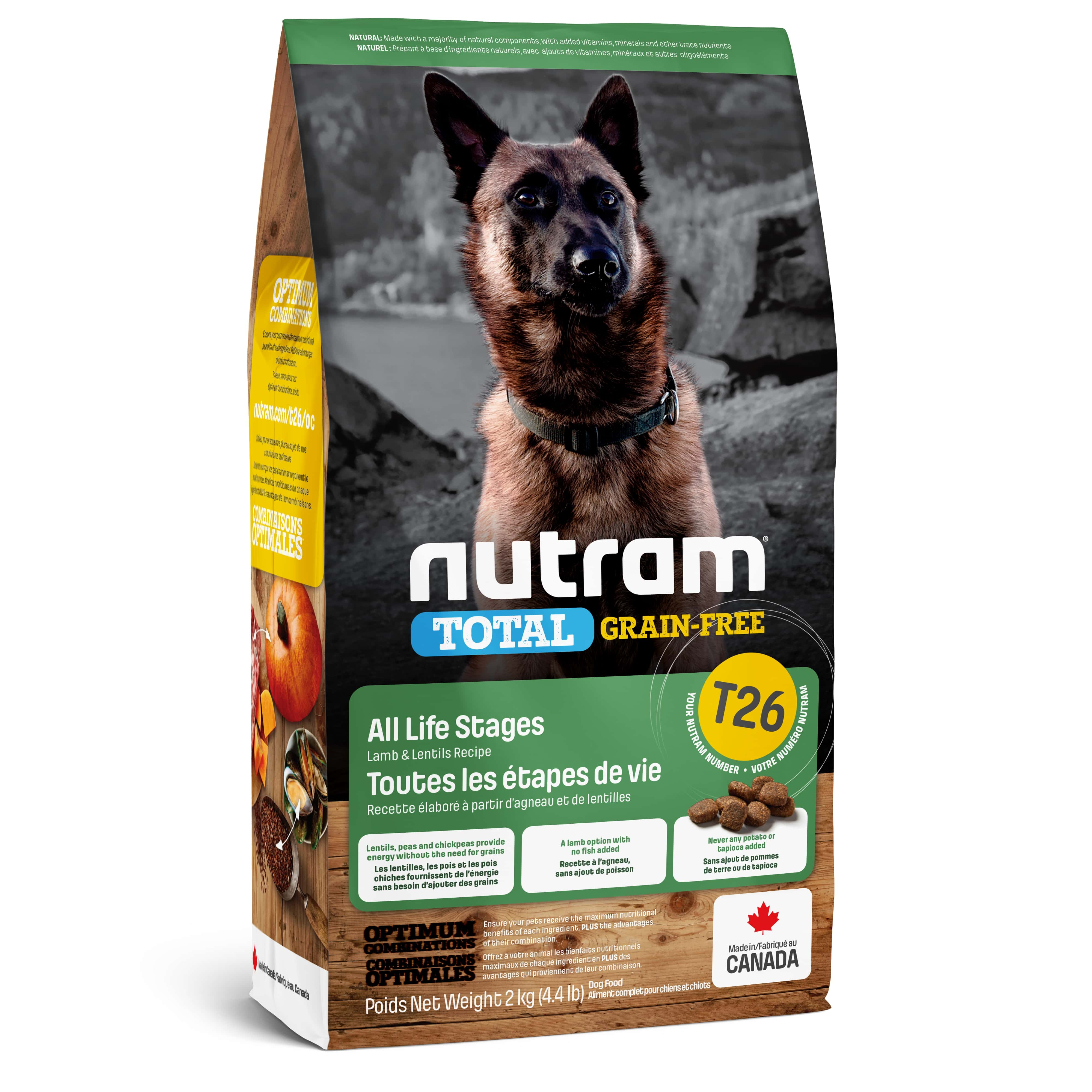 T26 Nutram Total Grain-Free® Lamb & Lentils Dog Food