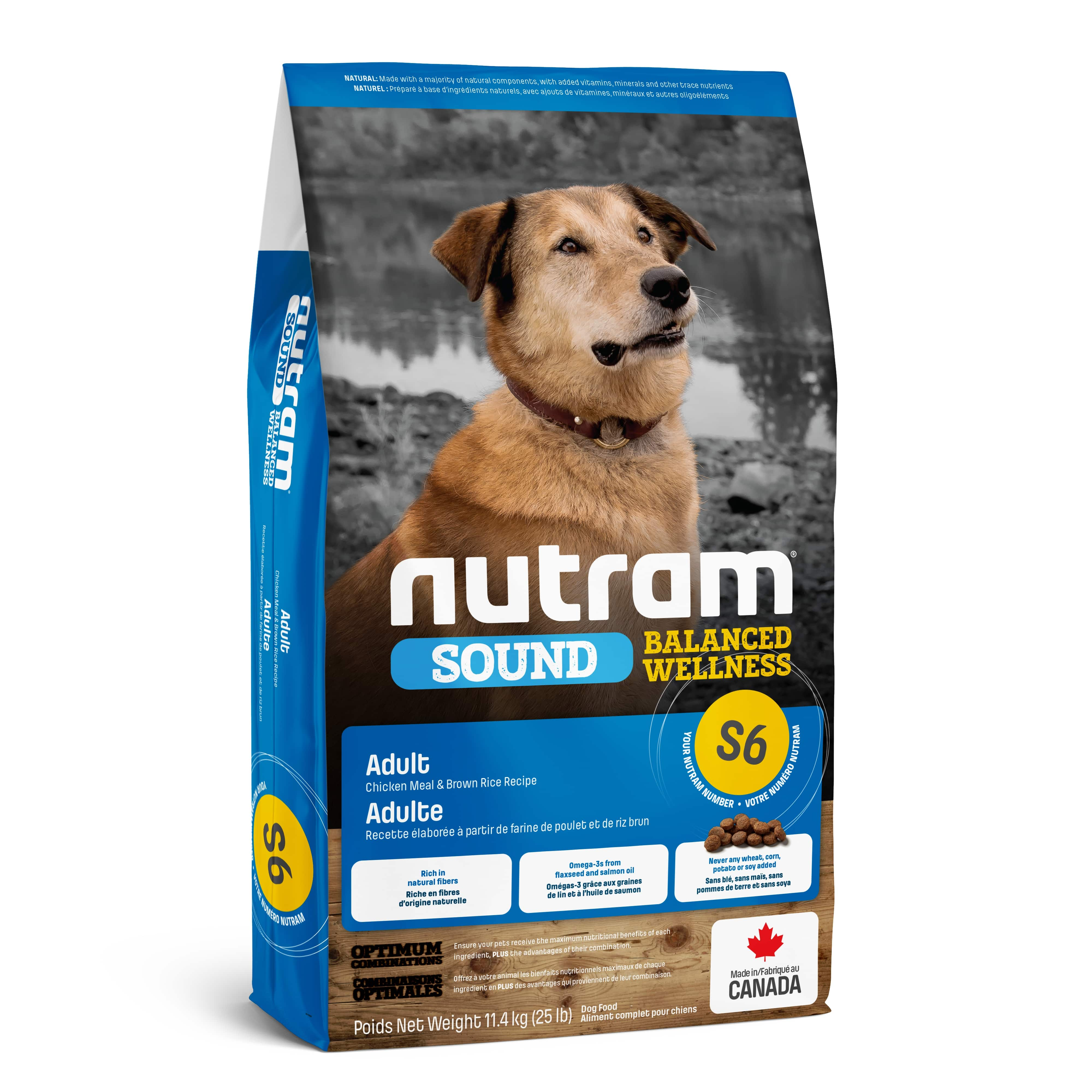 S6 Nutram Sound Balanced Wellness® Natural Adult Dog Food