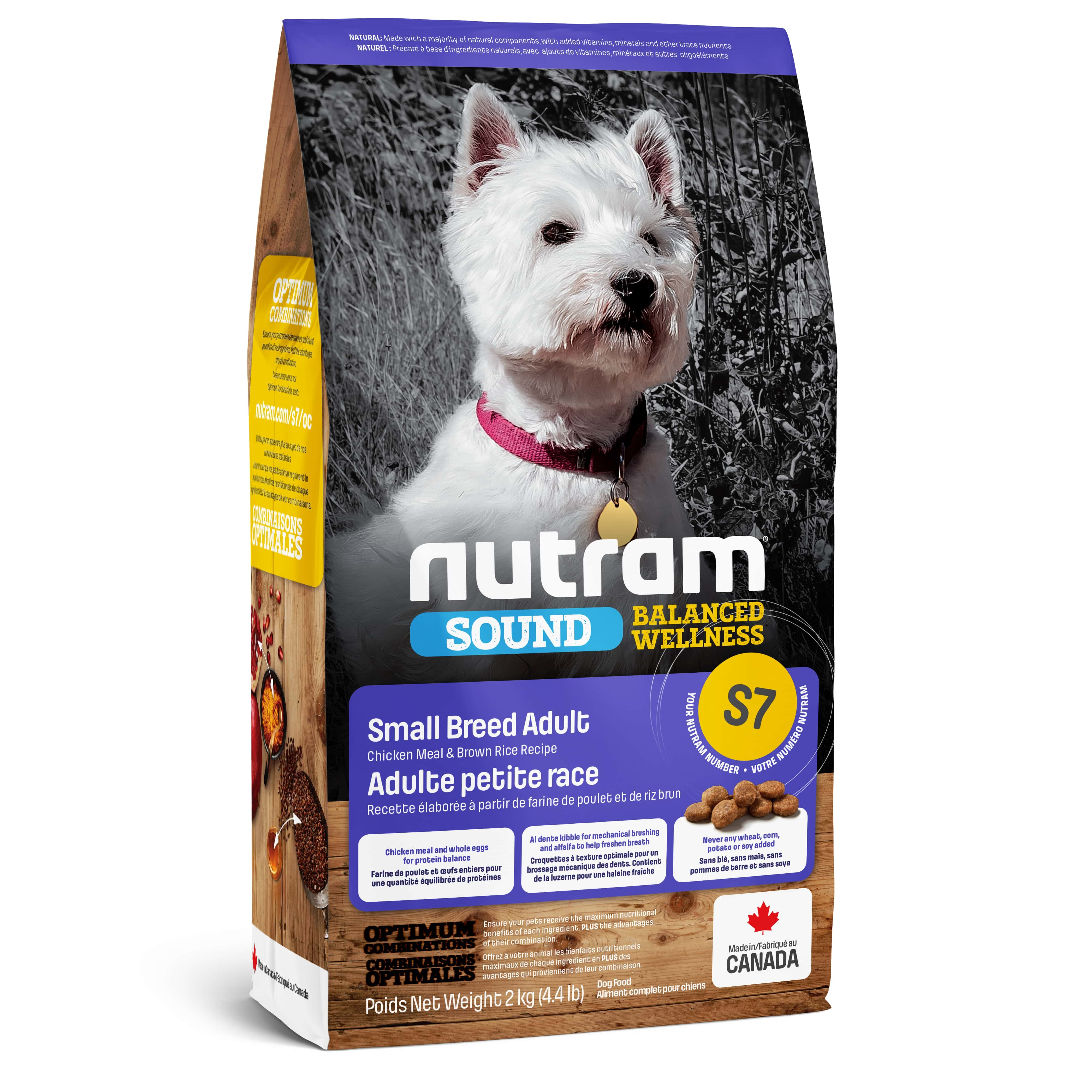 S7 Nutram Sound Balanced Wellness® Small Breed Adult Dog