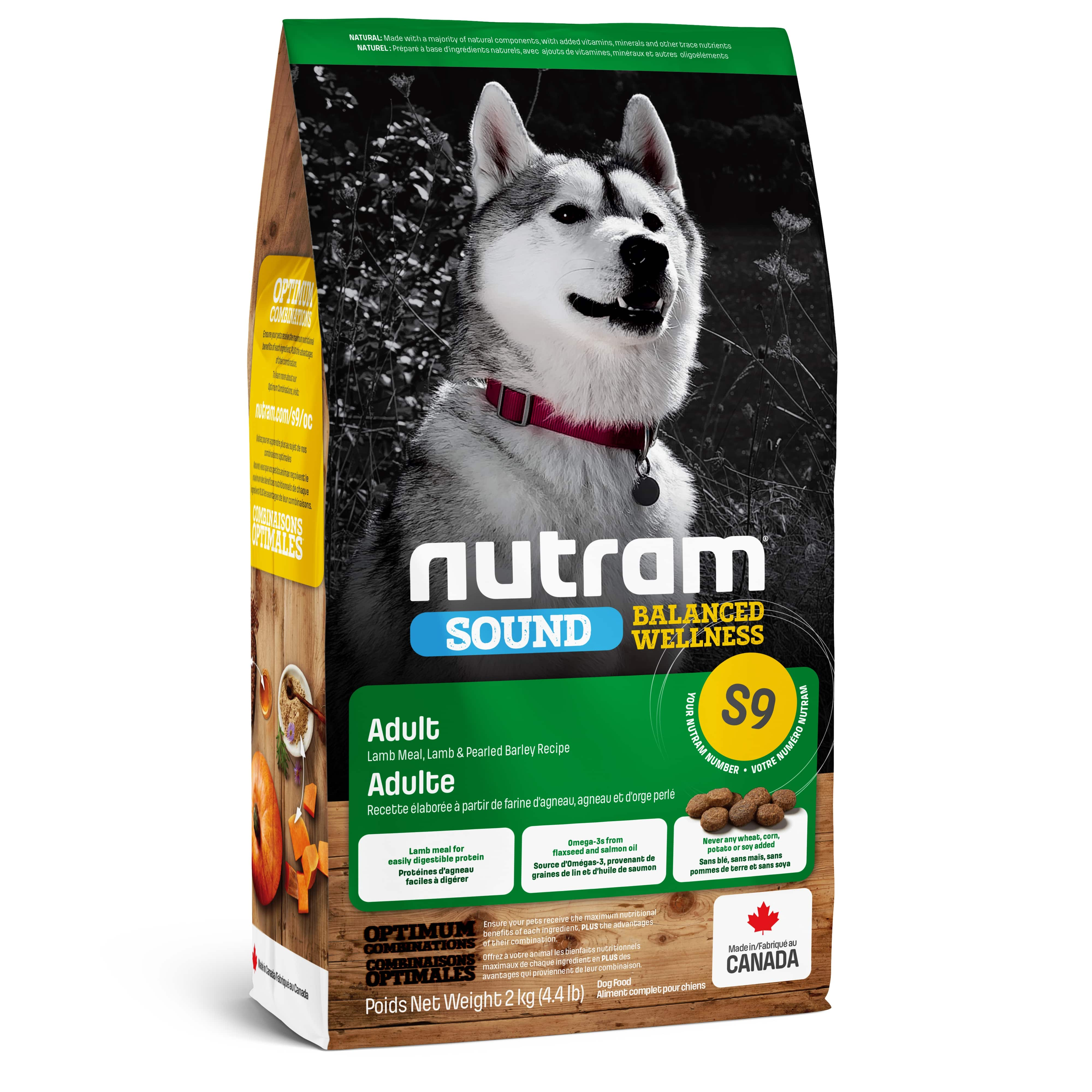 S9 Nutram Sound Balanced Wellness® Natural Lamb Adult Dog